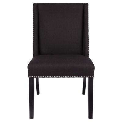 Braydon Fabric Dining Chair, Black
