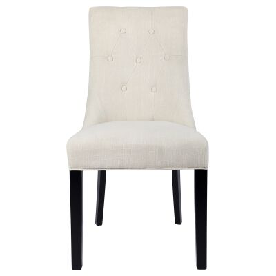 London Fabric Dining Chair, Ivory