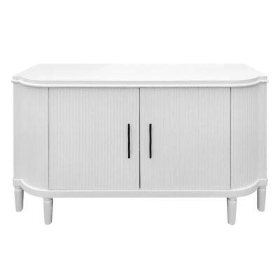 Arielle 2 Door 2 Drawer Buffet Table, 140cm, Satin White