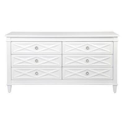 Plantation 6 Drawer Dresser, Satin White