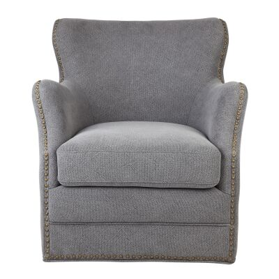 Autumn Fabric Swivel Armchair, Grey