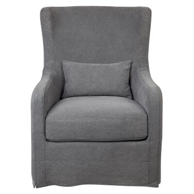 Riviera Fabric Slipcover Occasional Armchair, Grey