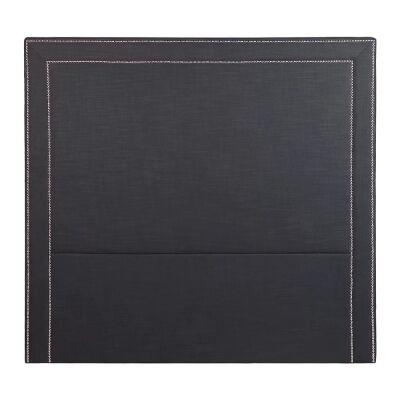 Manhattan Studded Fabric Bed Headboard, Queen, Charcoal