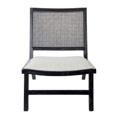 Palmer Oak Timber Occasional Chair, Black