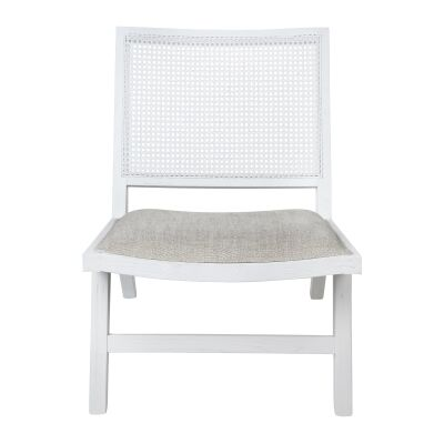 Palmer Oak Timber Occasional Chair, White