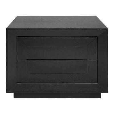 Balmain Bedside Table, Low, Black