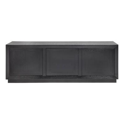 Balmain 3 Door Buffet Table, 200cm, Black