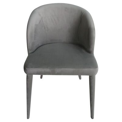 Paltrow Velvet Fabric Dining Chair, Grey