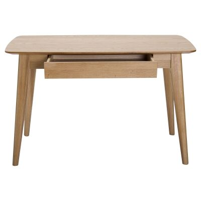 Jarel Oak Timber Writing Desk, 120cm