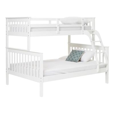 Everest Wooden Bunk Bed, Trio, White