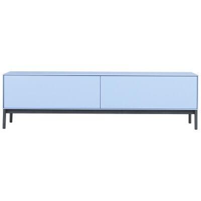 Lowell 2 Drawer TV Unit, 120cm, Baby Blue
