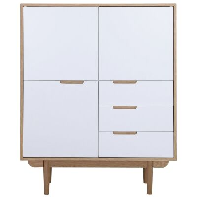 Nakula 2 Door 3 Drawer Cupboard, Natural / White