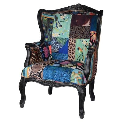 European Designed Patterned Very Large Arm Chair