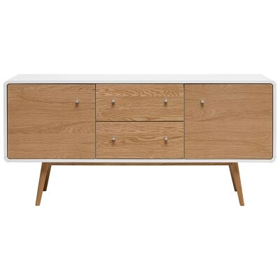 Kaisu Wooden 2 Door 2 Drawer Sideboard, 150cm