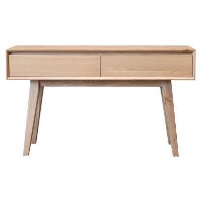 Summit Hardwood Timber Hall Table, 135cm, Light Oak