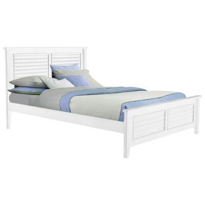 Venice Wooden Bed, Double, White