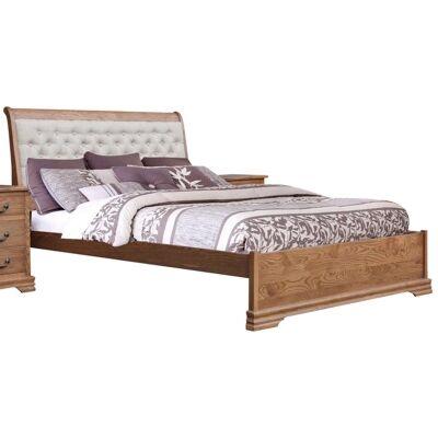 Malibu American Oak Timber Bed, King