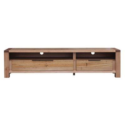 Nelson Wormy Chestnut Timber 2 Drawer TV Unit, 180cm