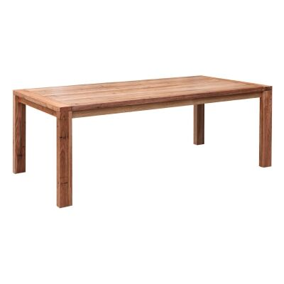 Nelson Wormy Chestnut Timber Dining Table, 210cm