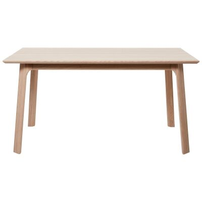 Capri White Oak Timber Dining Table, 150cm
