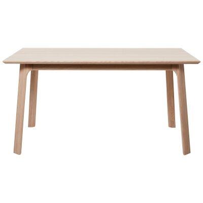 Capri White Oak Timber Dining Table, 200cm