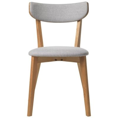 Inari Fabric & White Oak Timber Dining Chair