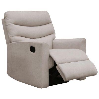 Carla Fabric Recliner Armchair, Champagne