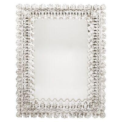 Evelina Mango Wood Frame Wall Mirror, 123cm