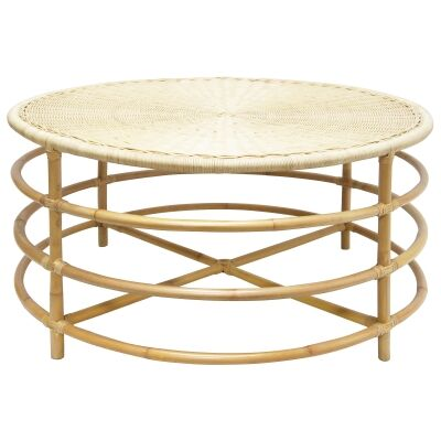Foitrit Rattan Round Coffee Table, 93cm