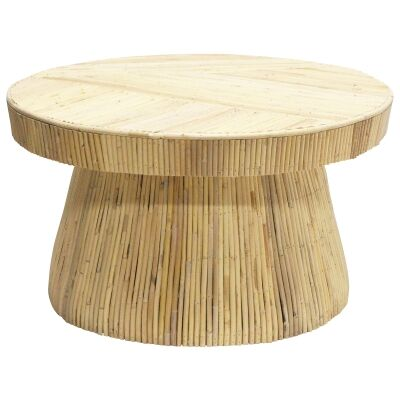 Laminasi Rattan Round Coffee Table, 80cm, Natural