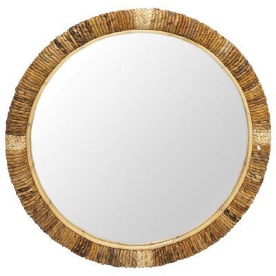 Batawi Round Wall Mirror, 80cm