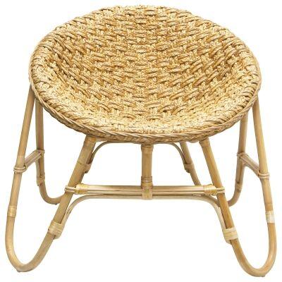 Bokor Water Hyacinth & Rattan Lounge Chair