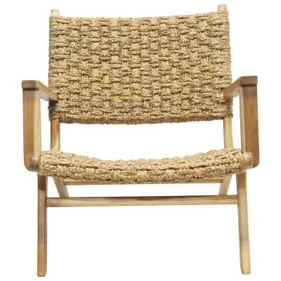 Kepang Water Hyacinth & Teak Timber Armchair