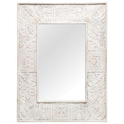 Devar Mango Wood Frame Wall Mirror, 120cm