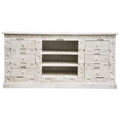 Johar Mango Wood 6 Drawer Sideboard, 181cm