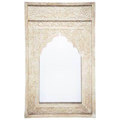 Mishra Mango Wood Frame Wall Mirror, 121cm
