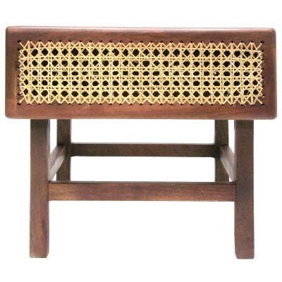 Lorado Mango Wood & Cane Bedside Table