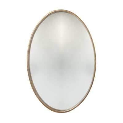 Destiny Iron Framed Oval Wall Mirror, 90cm