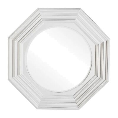 Reynolds Wall Mirror, 100cm, Satin White