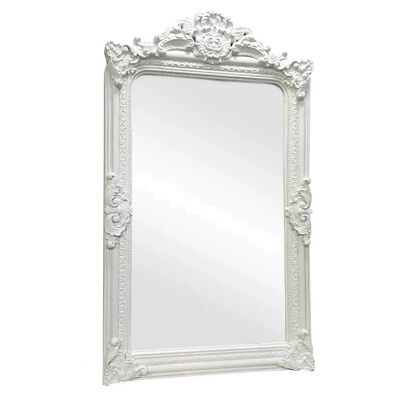 Elizabeth Baroque Floor Mirror, 200cm, White