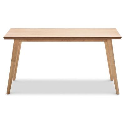 Bruno Wooden 150cm Dining Table - Natural Oak