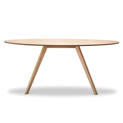 Carol Wooden 180cm Oval Dining Table - Natural Oak