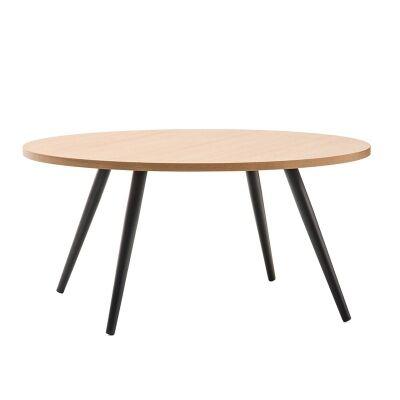 Dizzy 80cm Round Coffee Table - Black