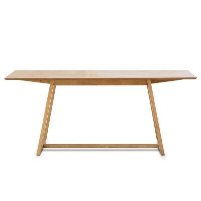 Manhattan Wooden Dining Table, 180cm, Light Oak