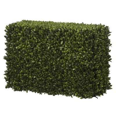 Artificial Box Leaf Hedge Screen, 75cm
