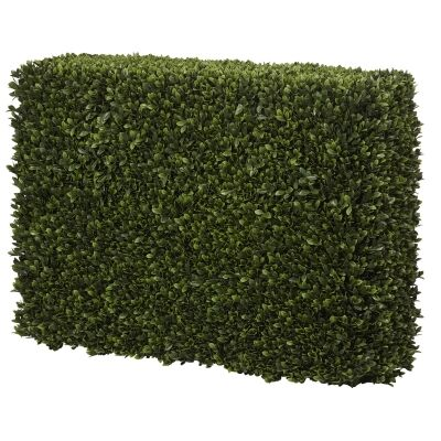Artificial Box Leaf Hedge Screen, 100cm