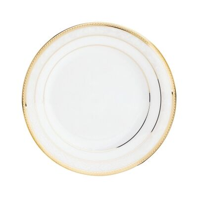 Noritake Hampshire Gold 4 Piece Fine Porcelain Bread & Butter Plate Set