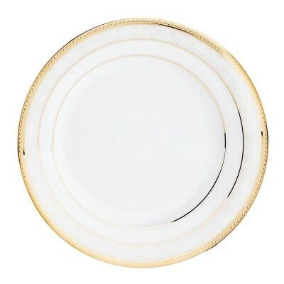 Noritake Hampshire Gold 4 Piece Fine Porcelain Entrée Plate Set