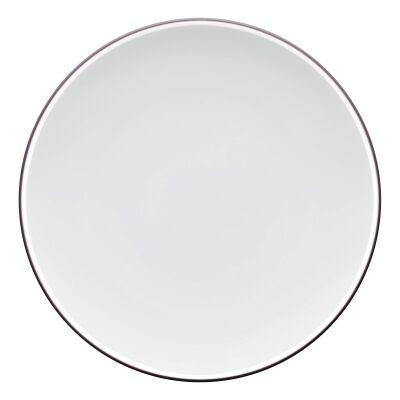 Noritake ColorTrio Porcelain Coupe Entree Plate, Graphite