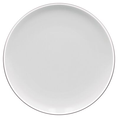 Noritake ColorTrio Porcelain Coupe Dinner Plate, Graphite